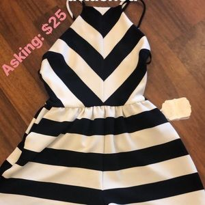 Altar'd State Stripe Backless Romper